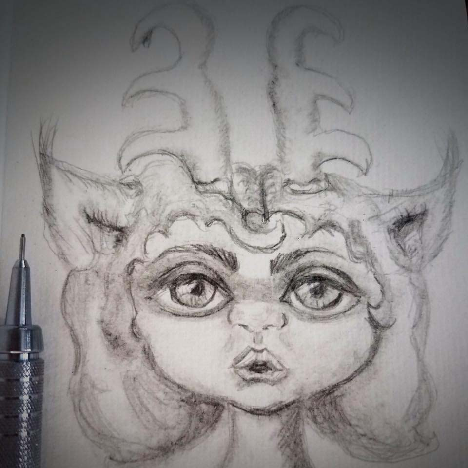 horned sketch
