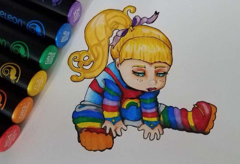 rainbow marker