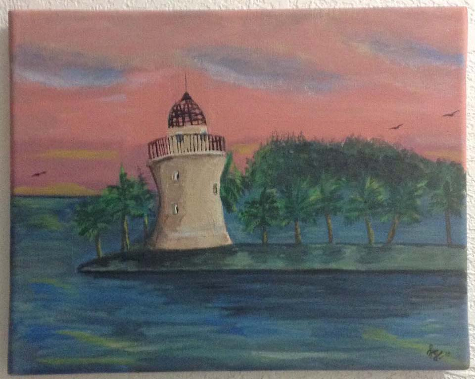 acrylic lighthouse